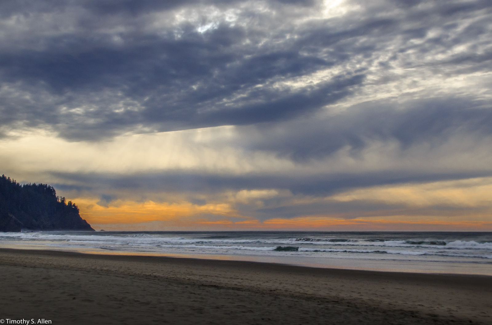 Sunset On The Oregon Coast Photographs By Timothy S Allen