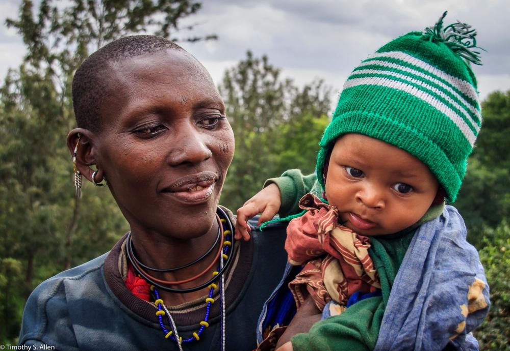 Masai Woman and Her Child Arusha, Tanzania February 12, 2008