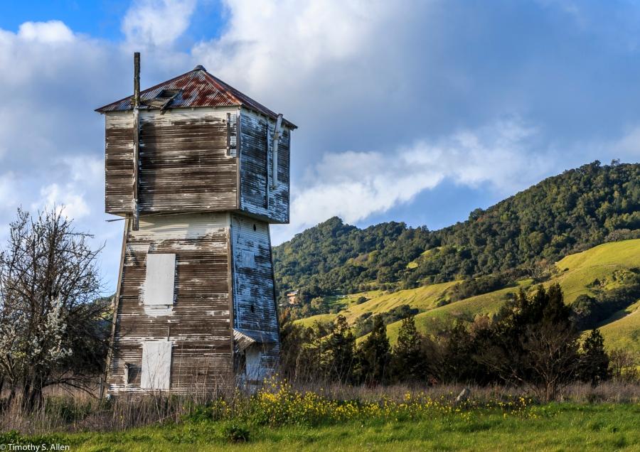 Sonoma County Water Tower Petaluma Hills Road, Sonoma County, CA, U.S.A. March 5, 2017