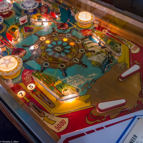Watching the Silvery Bounce Play Pinball at Pacific Pinball Museum Alameda, CA, U.S.A.