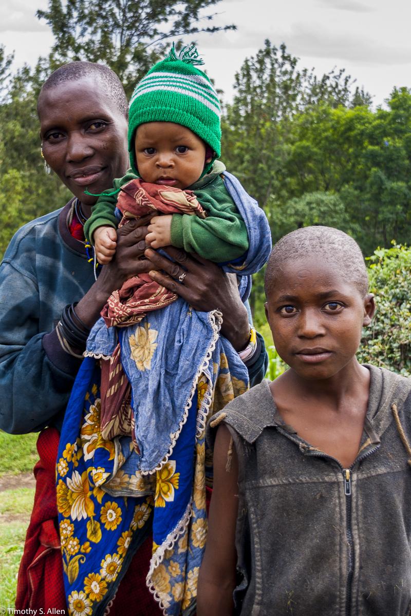 Masai Woman and Her Children Arusha, Tanzania February 12, 2008