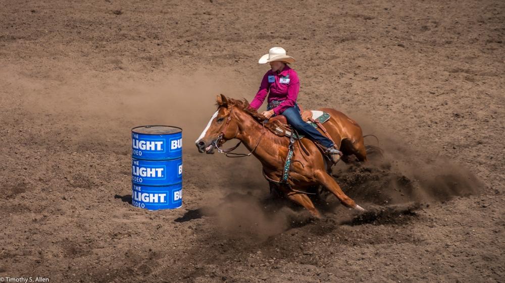 Barrel Racing Russian River Rodeo - Duncan Mills, CA, U.S.A. June 24, 2017