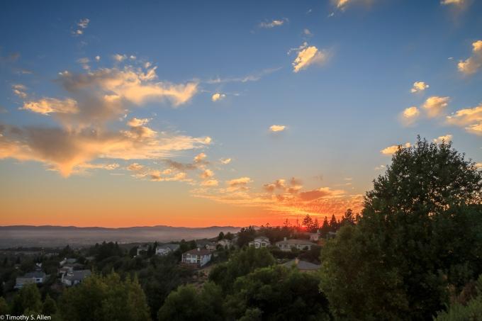 View from Fountaingrove Area Santa Rosa, CA, U.S.A. July 22, 2017