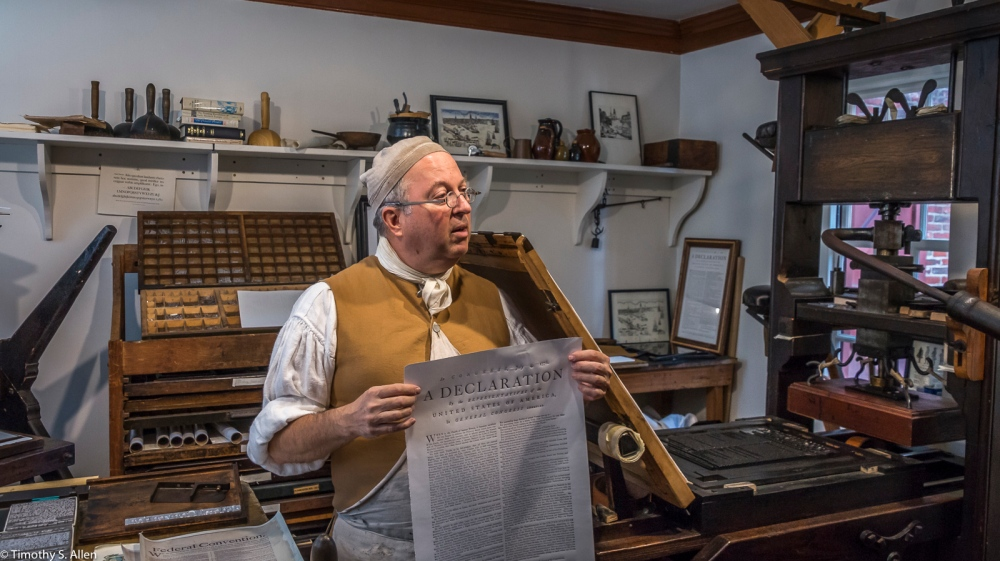 Gary Gregory, Master Printer/Executive Director The Printing Office of Edes & Gill Celebrating Constitution Day at the Old North Church Boston, MA, U.S.A. September 17, 2017 http://bostongazette.org/