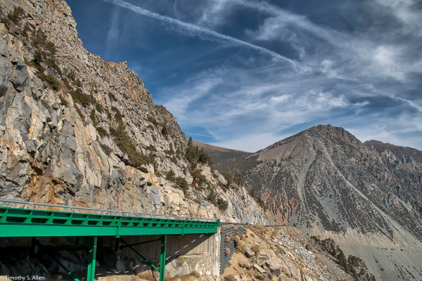 Tioga Pass Hwy 120 Near the Eastern Entrance of Yosemite National Park, CA, U.S.A. October 16, 2017
