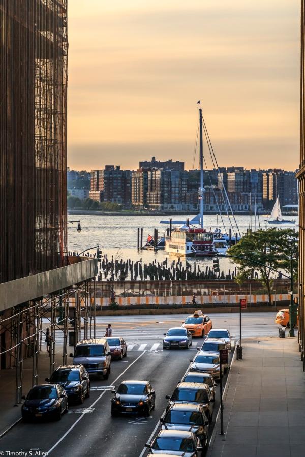 Hudson River from Manhattan, NYC, NY, U.S.A. September 11, 2017