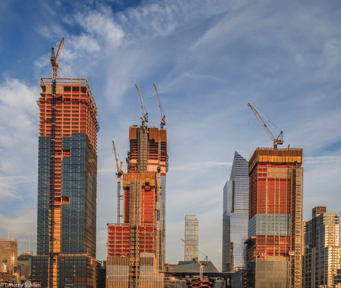 Skyscraper Construction Projects Hudson River Parkway Area, NYC, NY, U.S.A. September 14, 2017