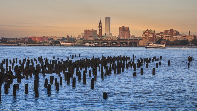 Hudson River from Manhattan, NYC, NY, U.S.A. September 13, 2017