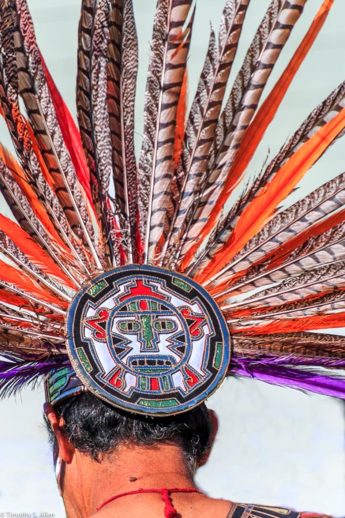 Aztec Dancer's Head Feathers Studio Santa Rosa, Santa Rosa, CA, U.S.A. November 3, 2017