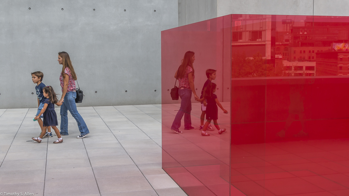 Larry Bell's Pacific Red II from the Whitney Museum of American Art Bicentennial 2017, New York, NY, U.S.A. September 13, 2017