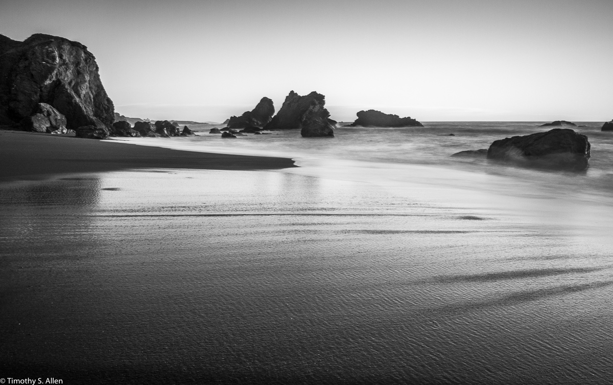 Taken with a Neutral Density Filter to Slow Down the Shutter Speed Sonoma County Beach, California, U.S.A. January 6, 2018