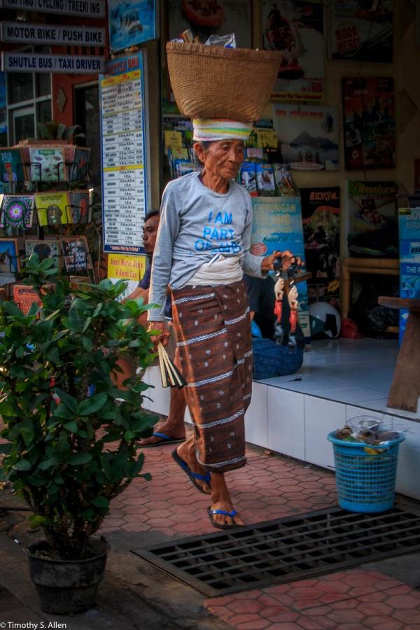 Street Seller Ubud, Bali, Indonesia May 7, 2016
