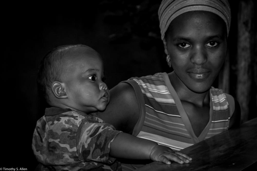 Aunt and Nephew at Moshi Cafe Arusha, Tanzania January 31, 2008