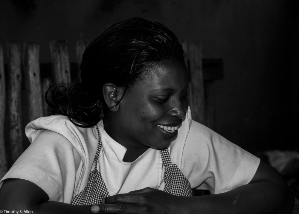 Worker at Moshi Cafe Arusha, Tanzania January 31, 2008