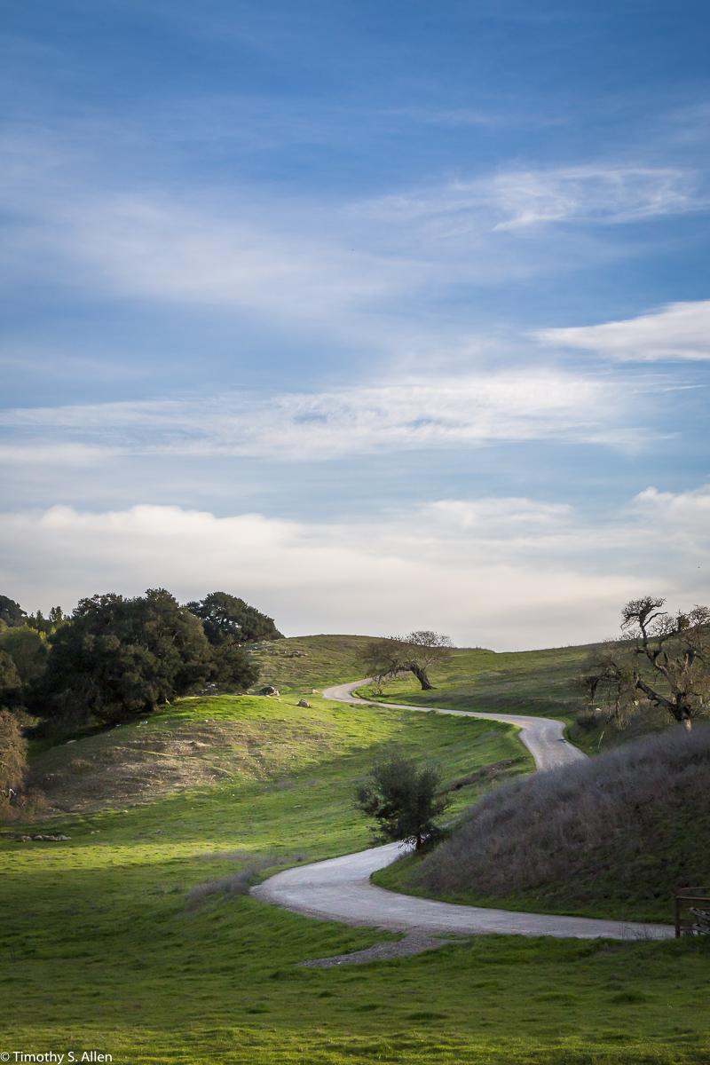 Private Road - CA Hwy 116, Napa County, CA, U.S.A. February 9, 2018