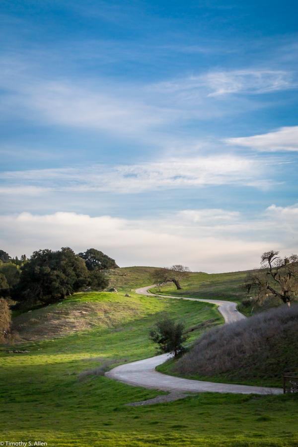 Private Road - CA Hwy 116, Napa County, CA, U.S.A. February 9, 2018