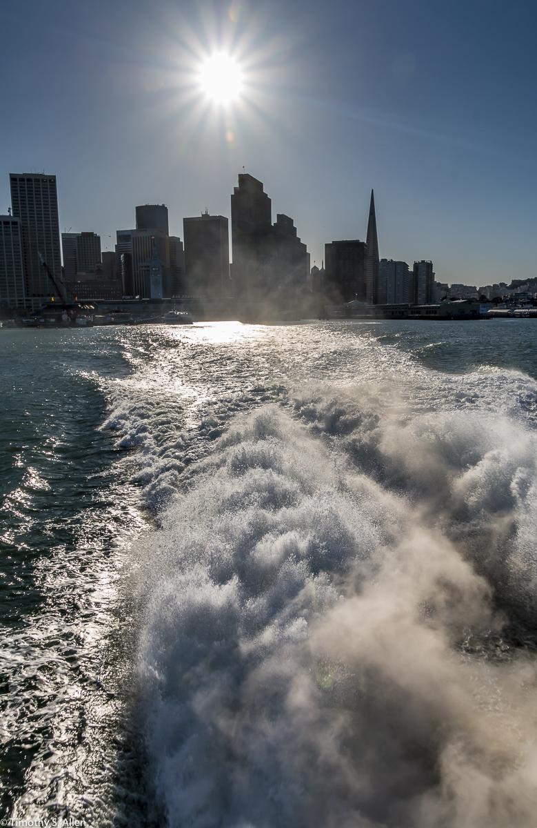 On the Larkspur Ferry Leaving San Francisco San Francisco, California, U.S.A. February 22, 2018