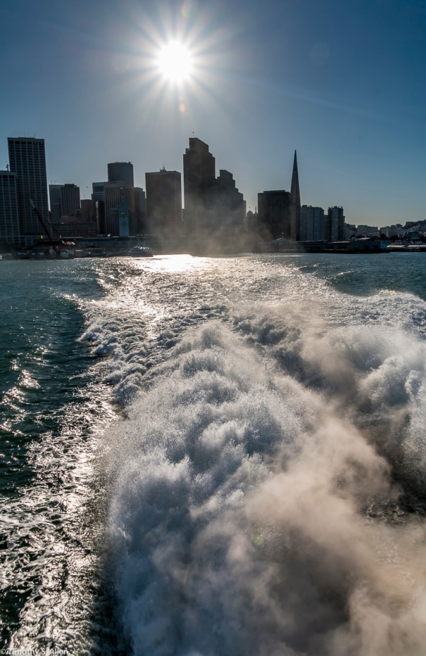 On the Larkspur Ferry Leaving San Francisco San Francisco, California, U.S.A. February 22, 2018