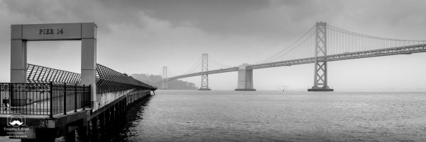 A View of the Bay Bridge from The Embarcadero San Francisco, CA, U.S.A. March 20, 2018