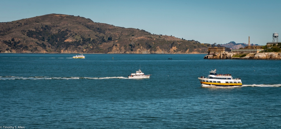 Ferries to and from San Francisco San Francisco, California, U.S.A. February 22, 2018
