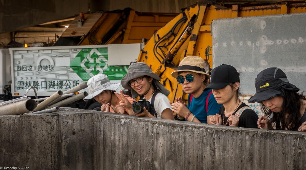 Artists and Volunteers Visit the Recycle Center Near Kohou Township in Search of Items that Would be Suitable for Making Artwork at the 2018 ChengLong Wetlands International Environmental Art Project Cheng long Village, Kohou Township, Yunlin County, Taiwan. April 13, 2018