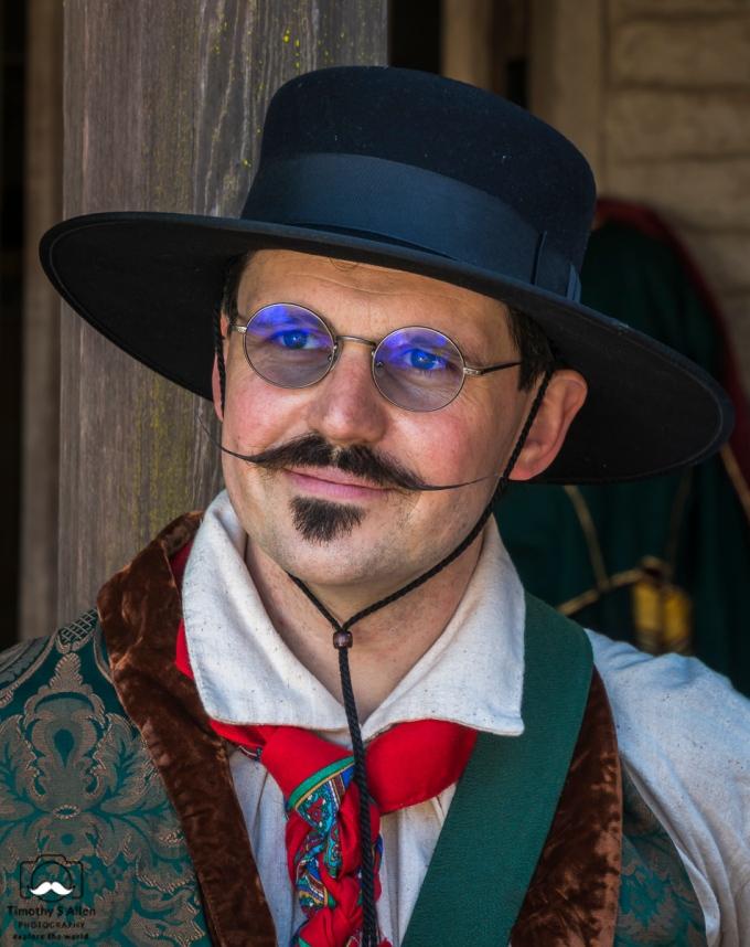 Historical Character in Petaluma Adobe History Days, Petaluma Adobe State Park, Petaluma, CA. U.S.A. May 26, 2018
