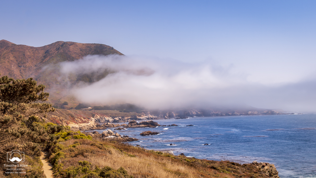 Pacific Coastline Hwy 1 between Carmel and Big Sur, California. August 10, 2018