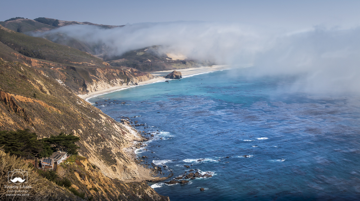 Hwy 1 between Carmel and Big Sur, California. August 10, 2018