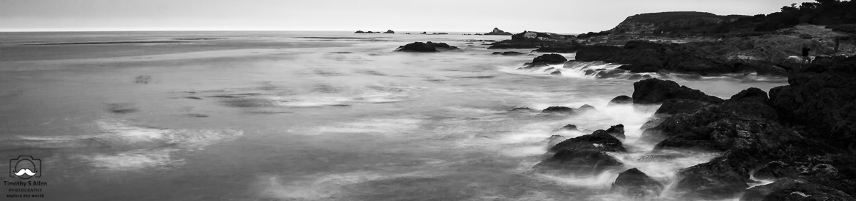 Top portion from the previous image using a 10 stop neutral density filter to achieve the misty look. Point Lobos Preserve, Monterey County, California. August 10, 2018
