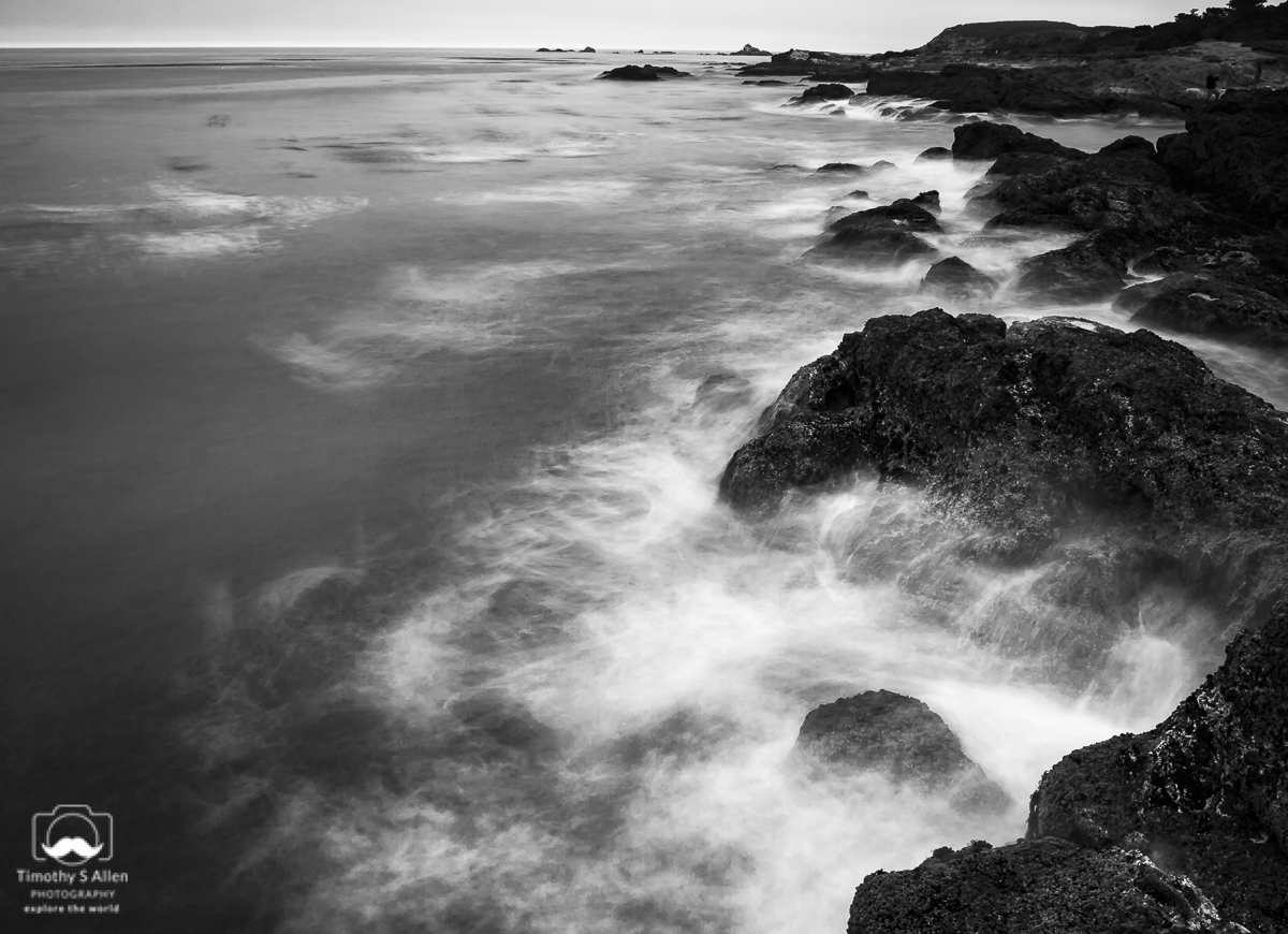 Using a 10 stop neutral density filter to achieve the misty look. Point Lobos Preserve, Monterey County, California. August 10, 2018