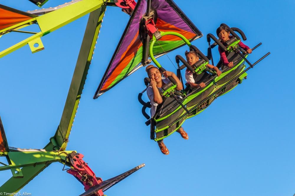 Kite Flyer from Butler Amusements, Marin County Fair, San Rafael, CA. July 2, 2018
