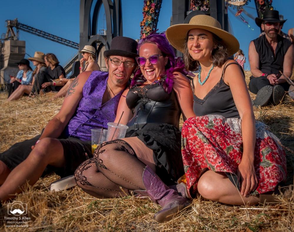 Enjoying the music and fun at this festival. Petaluma, CA, U.S.A. July 14, 2018