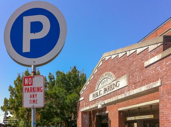 Public Parking, Santa Rosa, CA, U.S.A. August 31, 2011