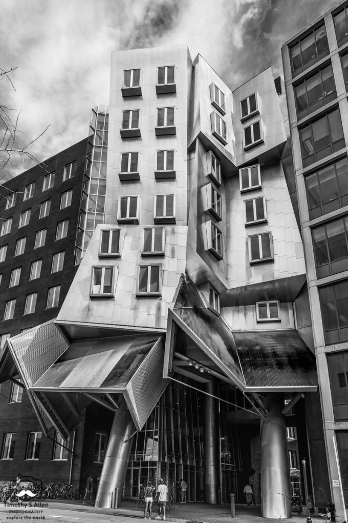 The Ray and Maria Stata Center or Building 32 is a 720,000-square-foot (67,000 m2) academic complex designed by Pritzker Prize-winning architect Frank Gehry for the Massachusetts Institute of Technology (MIT). The building opened for initial occupancy on March 16, 2004. The building's address is 32 Vassar Street. (Wikipedia: https://en.wikipedia.org/wiki/Ray_and_Maria_Stata_Center) Cambridge, MA, U.S.A. Sept. 17, 2018