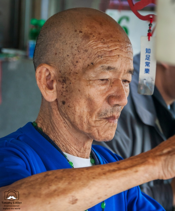 He was serving popular drinks at a drink stand in Nanto County, Taiwan. April 6, 2013