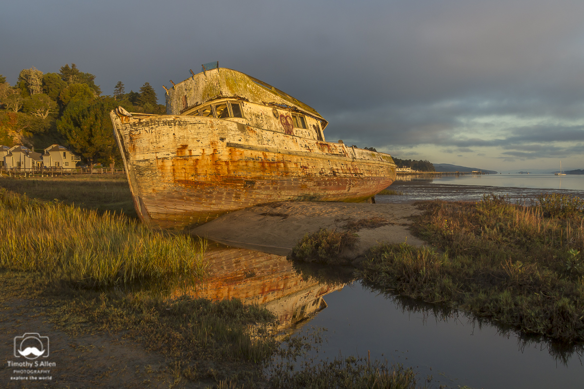 The Point Reyes is one of the most photographed wrecks in the San Francisco Bay Area. Inverness, CA. September 16, 2013
