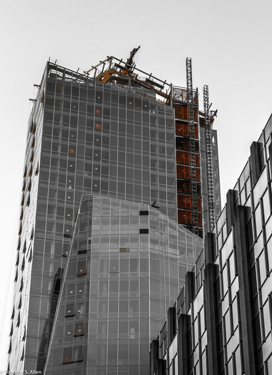 Construction of one of many buildings in mid-town, New York City, NY August 15, 2014