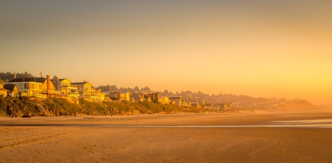 Lincoln City Beach, Oregon, U.S.A. October 17, 2013.