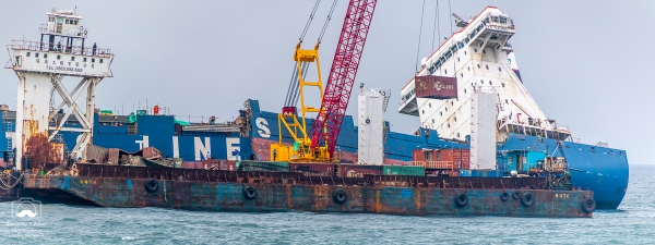 - TS Taipei lost power and went aground on March 10, 2016. It broke in half and sank. Salvage began by removing the 384 containers. Shimen, New Taipei, Taiwan, May 29, 2016.