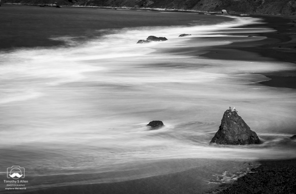 A Slow Shutter with 10 ND Filter Goat Beach Sonoma State Park, Jenner, CA February 19, 2019