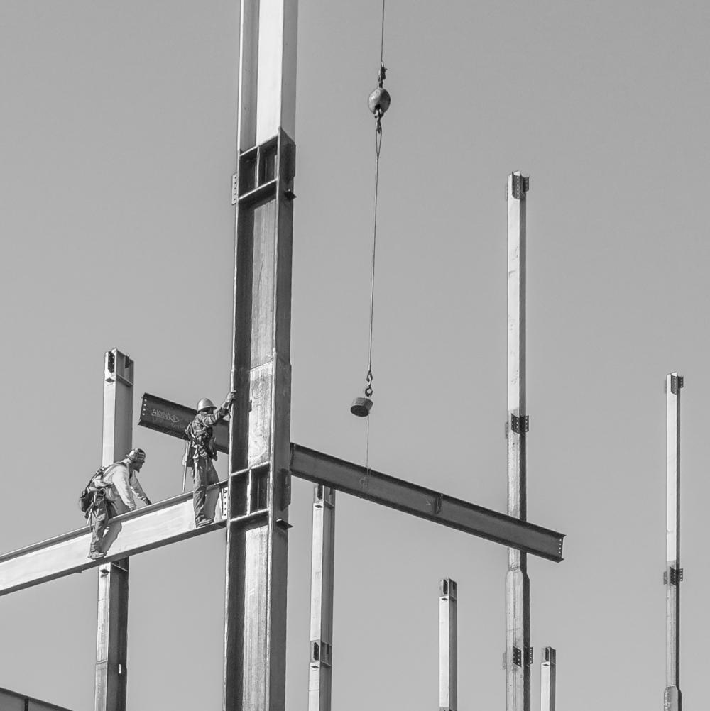 Construction on the St Joseph's administration building Santa Rosa, Sonoma County, CA March 21, 2019