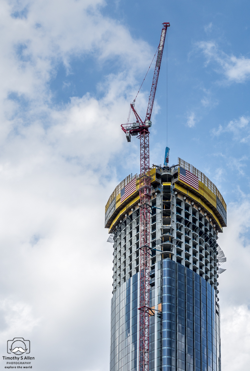 High rise construction in Cambridge, Mass. September 3, 2018