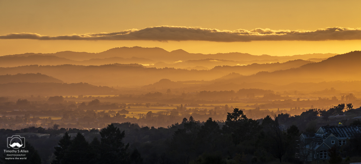 - Overlooking the Northern Part of Sonoma Valley. Rocky Point Way, Fountaingrove, Santa Rosa, CA. May 26, 2019.