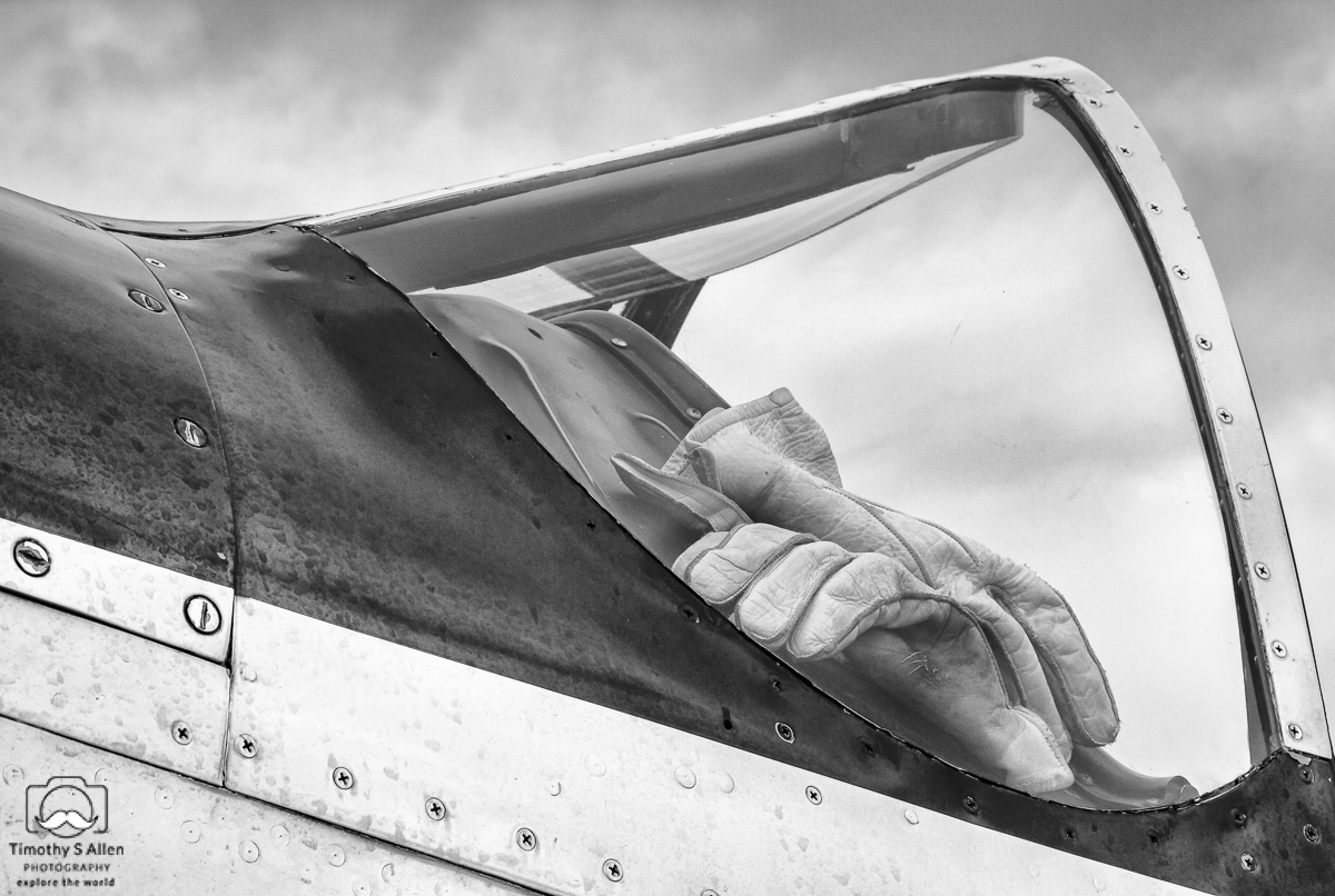 - Work Gloves, Cockpit of a Mustang Fighter Piloted to Daryl Bond. Wings Over Wine County, Santa Rosa, CA. September 21, 2014.