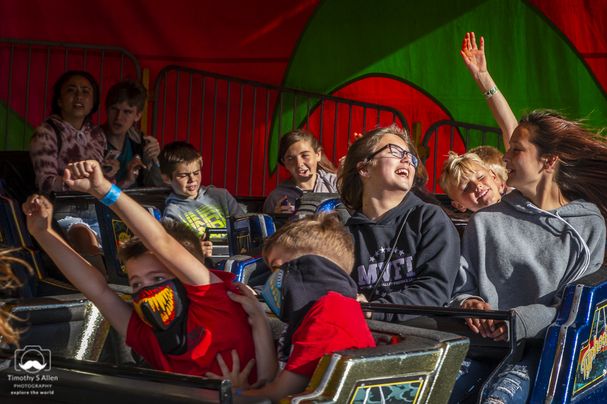 - Calaveras County Fair, Midway by California Carnival Company, Angels Camp, CA. May 17, 2019.