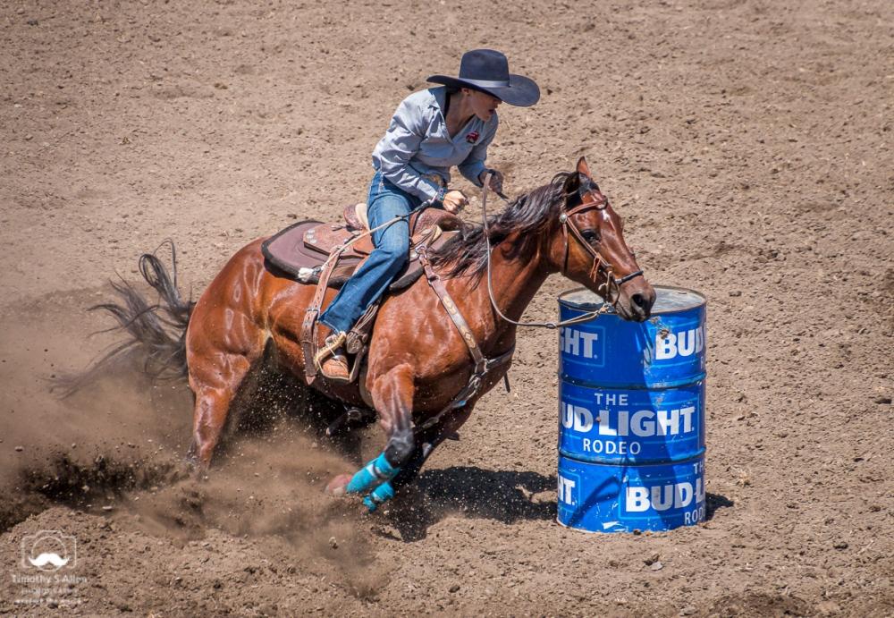 - Barrel Racing, Russian River Rodeo, Duncans Mills, CA. June 22, 2019.