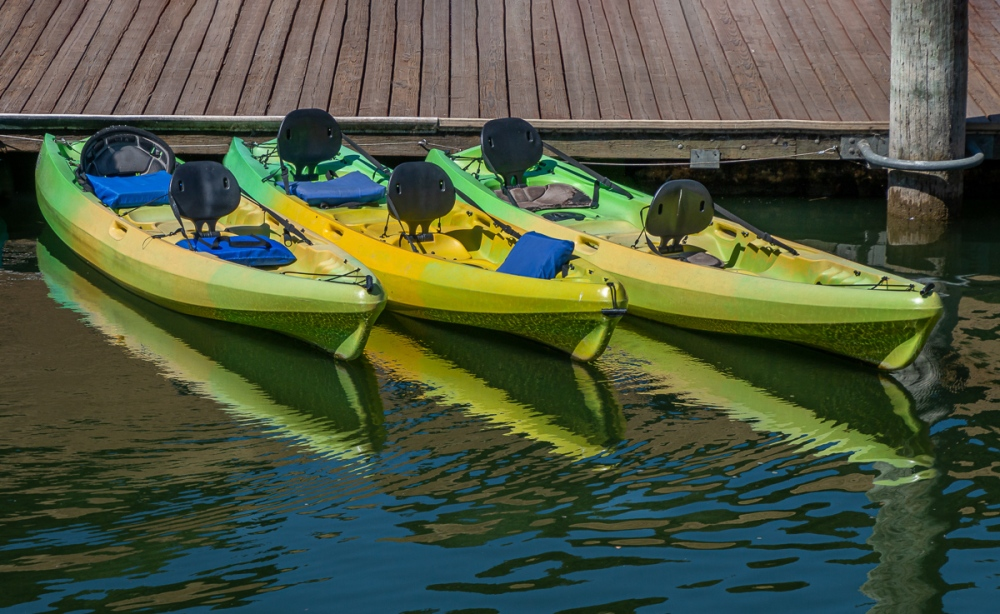 - Boats at the Lake Chabot Pier, Castro Valley, CA. July 3, 2019