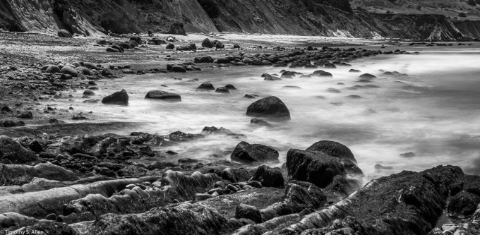 - 15 Sec. Exposure with a ND-10 and Polarizing Filters, CA-1, Mendocino County, California. July 24, 2019.