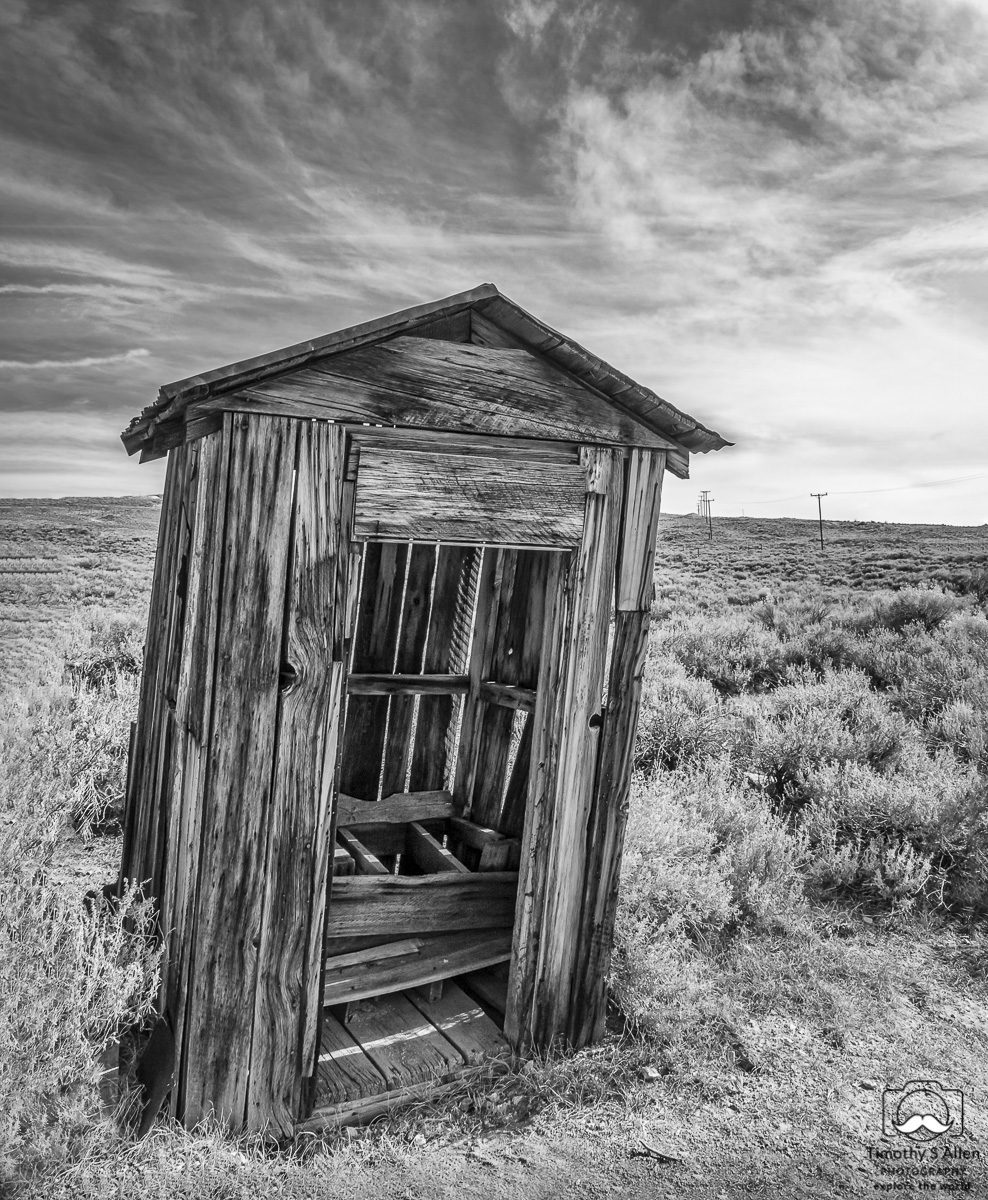 outhouse at Bodie, California